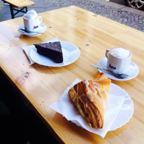 Cappuccino and cake in Kreuzberg