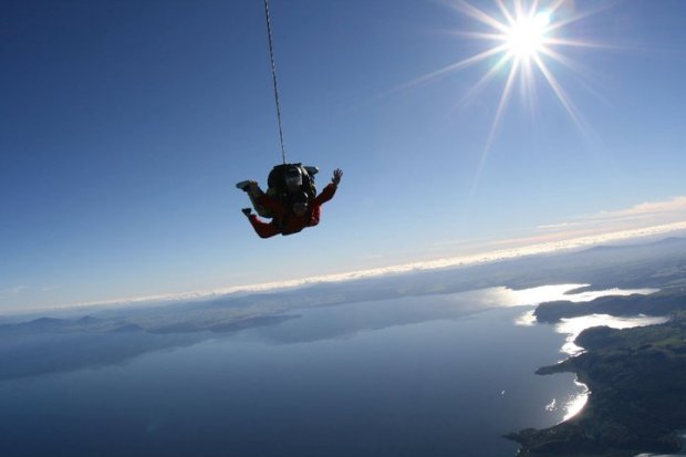 Sky Diving Lake Taupo, New Zealand