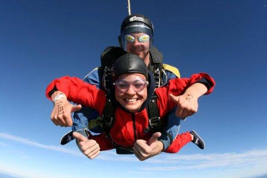 Crazy Sky Dive Selfie