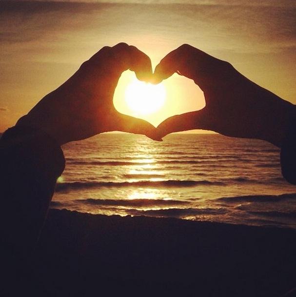 Brighton Sunset Heart
