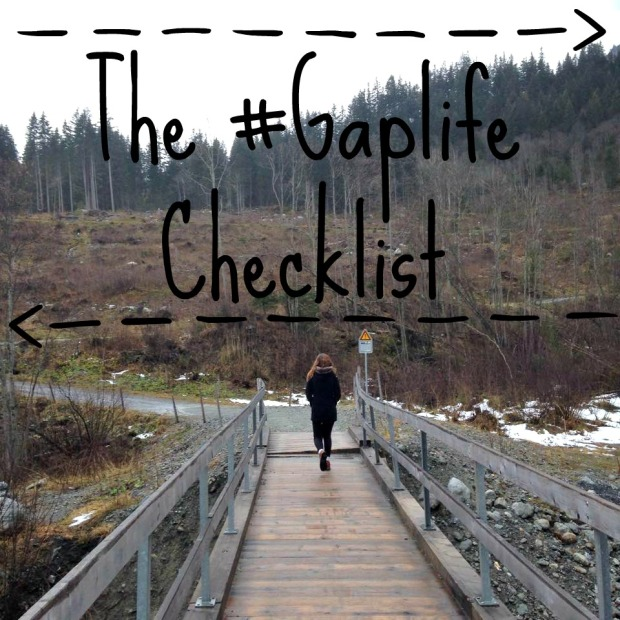 The Gaplife Checklist