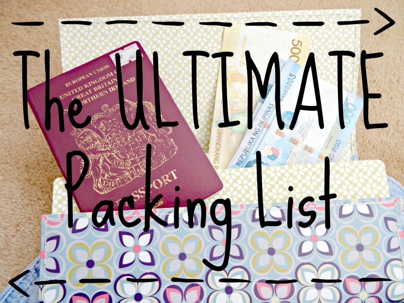 The ULTIMATE Packing List